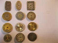 12 Vintage Wrist Watch Dials Steampunk Jewelery by HandzofTime, £7.95