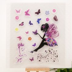 Butterfly angel clear stamps Size:17cm*20cm Price$6.78/pcs  http://www.aliexpress.com/store/1407387