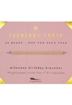 Birthday Milestone Bracelet - Fabulous Forty