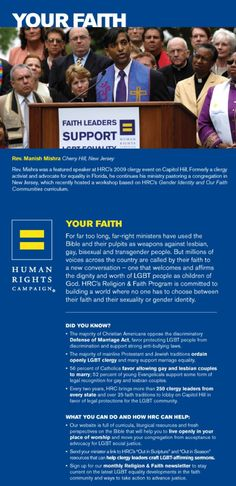 Did you know the majority of Christian Americans oppose the discriminatory Defense of Marriage Act, favor protecting LGBT people from discrimination and support strong anti-bullying laws?