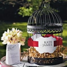 1000 images about urne idees on pinterest mariage for Cage a oiseau decorative