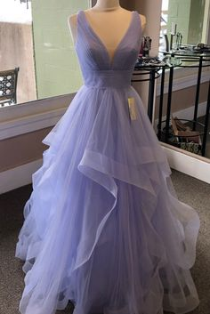 Lavender prom dresses - Purple Ruffled Long Prom Dress with Criss Cross Back from Sweet Lady – Lavender prom dresses Lavender Prom Dresses, Pretty Prom Dresses, Elegant Dresses, Sexy Dresses, Lavender Dress Formal, Purple Prom Dresses, Homecoming Dresses Long, Bridesmaid Dresses, Graduation Dresses