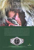 Alain Hubert Rolex Oyster Explorer II Watch 2004 Ad Picture
