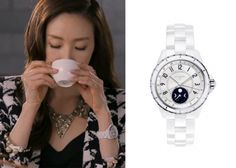 "Choi Ji-Woo 최지우 in ""Temptation"" Episode 1.  Chanel J12 Moonphase Watch #Kdrama #Temptation #유혹 #ChoiJiWoo"