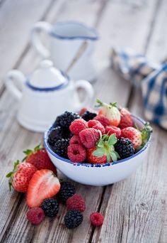 Raspberries, strawberries & blackberries