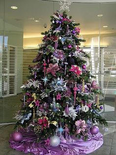 Purple christmas tree... i would uses different colors
