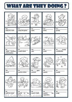 Present Continuous worksheet - Free ESL printable worksheets made by teachers