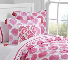 Watercolor Spot Quilted Bedding #pbkids