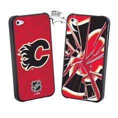 Calgary Flames Iphone 4/4S Broken Glass Lenticular Case
