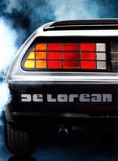 Never realized that the typography on the Delorean was so rad!