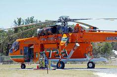 Fire Fighting Helicopter - S64A Air Crane.  Jandakot WA 2012