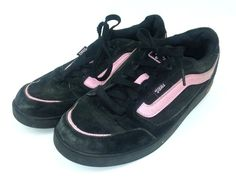 9dc62223e3ce Vans Women s Size 9 Sneakers Shoe Black Pink Suede Leather Basha 49835-73  Skate