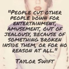 Taylor's quote (comment on IG)                                                                                                                                                                                 More