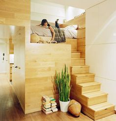 Small apartment bedroom space saving