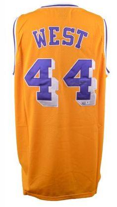 5e4b4f49c Jerry West Signed Jersey - GA  SportsMemorabilia  LosAngelesLakers