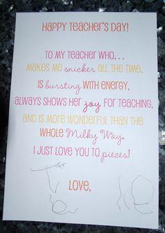 gallamore west: A Sweet Little Teacher Appreciation Idea