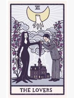 'The lovers' Sticker by uremovirgo The Witcher, The Lovers Tarot, Witch Tattoo, Retro Halloween, Flash Art, Cultura Pop, Cool Posters, Autumn Inspiration, Sticker Design