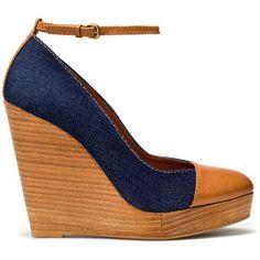Denim Wedge Heel Shoe