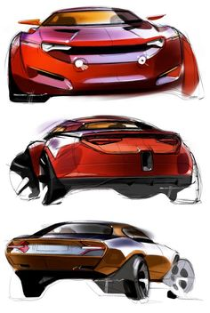 Muscle Car Concept Design Sketches by Ivan Borisov