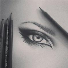 Pencil drawn eye