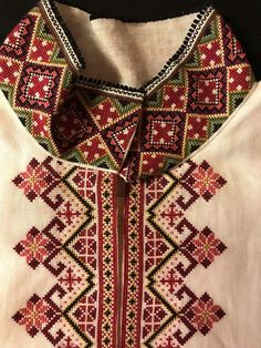 Skjorter til Øst Telemark Beltestakk Embroidery On Kurtis, Embroidery Motifs, Modern Embroidery, Cross Stitch Embroidery, Cross Stitch Designs, Cross Stitch Patterns, Blackwork, Sewing Crafts, Sewing Projects