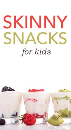 Here are some great snacks for your kids that are healthy and easy to make!