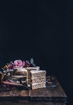 ginger spice layer cake with apple butter mascarpone frosting