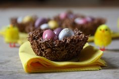 Chocolate Easter nests ( made from cereal, melted choc & cadbury mini eggs)