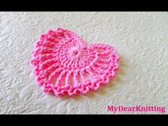 How to make very beautiful and easy crochet heart - YouTube
