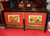 Buffet Chinois origine Mongolie 4 portes 4 tiroirs 2 trappes