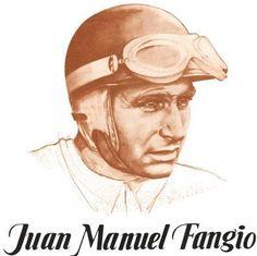 Juan Manuel Fangio (1911 – 1995) automovilista argentino, quíntuple campeón de Fórmula 1.