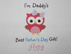 Owl Personalized Father's Daybodysuit or t-shirt by TeeterTotz
