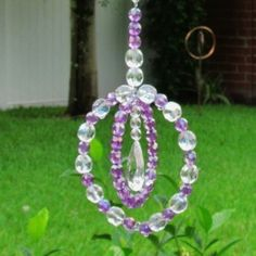 Sun bead catcher made out of plastic beads and wire...