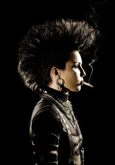 "Noomi Rapace as Lisbeth Salander ""The Girl With the Dragon Tattoo"" Swedish version, which to me was the best version."