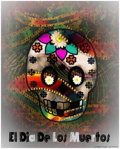 Day of the Dead Dia de los Muertos Sugar Skull by AJoyfulStudio, $20.00