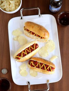 How to Make Homemade Hot Dog Buns from completelydelicious.com