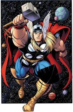 Thor Comic Book Art