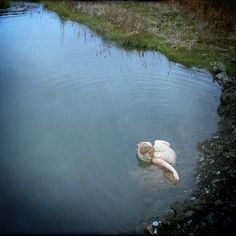 Photography-Figurative-Drex Brooks: Michelle Listening to Water, Oregon  1986