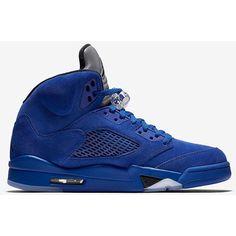 1469f65da98f Retro Men, Retro Shoes, Blue Suede, Jordan 5, Baskets Jordan, Basket Pas  Cher, Athletic, Nike Air Jordan Retro, Nike Air Jordans