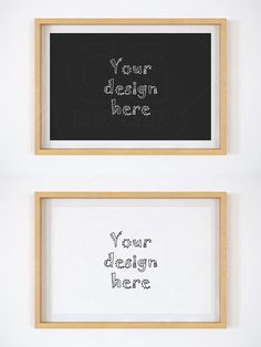 Wood matted frame 8x12 inch mockup. Product Mockups
