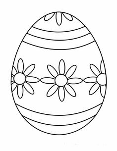 Free Printable Easter Egg Coloring Pages - Printable Coloring Pages To Print Hand Embroidery Patterns Free, Embroidery Flowers Pattern, Paper Embroidery, Paper Patterns, Easter Egg Template, Easter Egg Pattern, Easter Egg Coloring Pages, Easter Egg Designs, Easter Activities