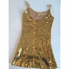 🆕Gold Sequin Mini Dress New with tags! Gold sequin mini dress by C-Gen. Small. C-Gen Dresses Mini