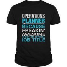 OPERATIONS PLANNER T-Shirts, Hoodies. ADD TO CART ==► https://www.sunfrog.com/LifeStyle/OPERATIONS-PLANNER-109750193-Black-Guys.html?id=41382