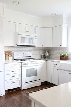Kitchens With White Appliances And Cabinets Design Ideas 1498 Kitchen