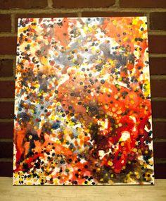 crayon art abstract
