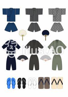 甚平/作務衣 Polyvore, Image, Fashion, Moda, Fashion Styles, Fashion Illustrations
