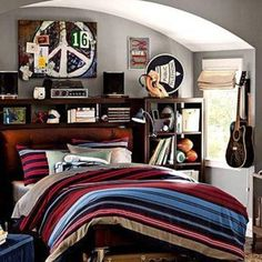 Music Theme Bedrooms For Young Men , Cool Bedrooms For Young Men In Bedroom Category
