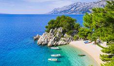 Beautiful beach near Brela town, Dalmatia, Croatia. Makarska riviera, famous landmark and travel touristic destination in Europe Stock Photo , Krka National Park, National Parks, Costa, Excursion, Kayak, European Destination, Most Beautiful Beaches, Mamma Mia, Day Tours
