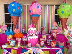 "Photo 1 of 17: candy / Birthday ""CANDY LAND"".  DIY craft & decorations for kids birthday party centerpiece ideas."