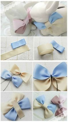 a pair of scissors and three strands of wide Stain Ribbon, you can handle this how to make hair bows plan rapidly.How to make Hair Bows - Free Hair Bow Tutorials Made the elephant for a friend and she loved it!DIY bow with simple instructions. Diy Ribbon, Ribbon Crafts, Ribbon Bows, Ribbons, Felt Bows, Ribbon Flower, Making Hair Bows, Diy Hair Bows, Bow Making